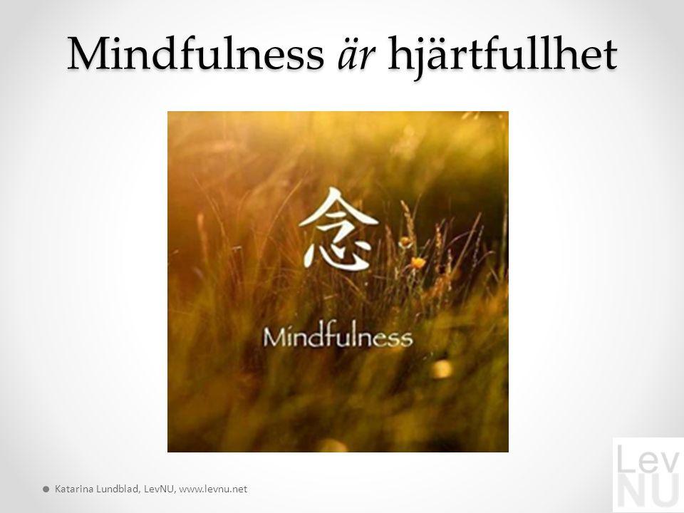 Mindfulness är hjärtfullhet Katarina Lundblad, LevNU, www.levnu.net