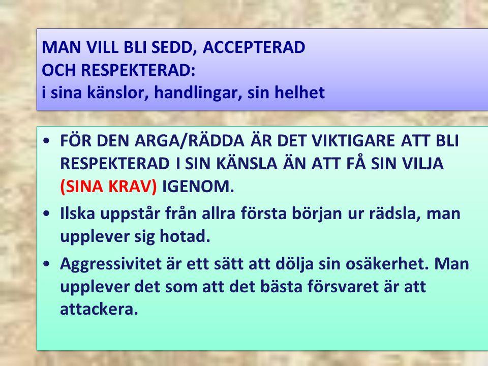 KRAV – GLÄDJE ELLER RÄDSLA/ILSKA.