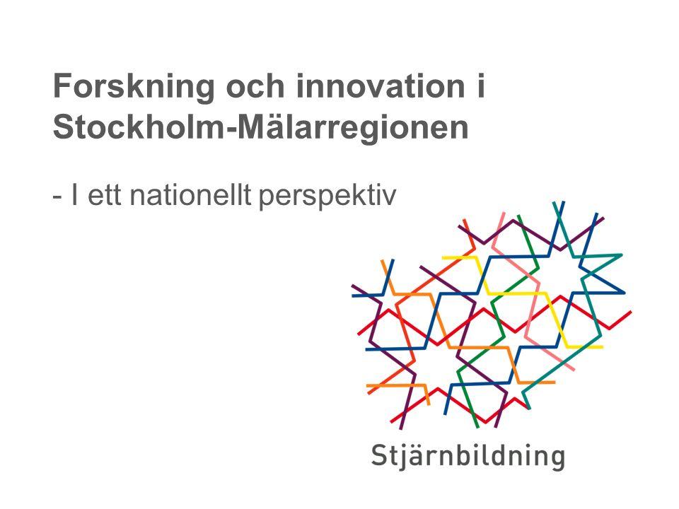 - I ett nationellt perspektiv Forskning och innovation i Stockholm-Mälarregionen