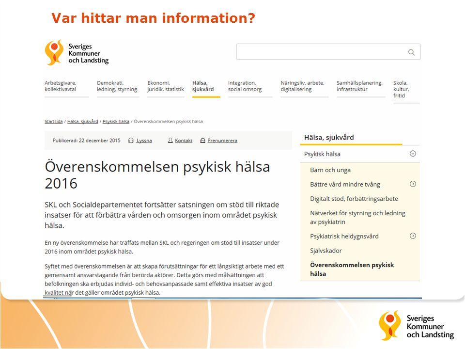 Var hittar man information?
