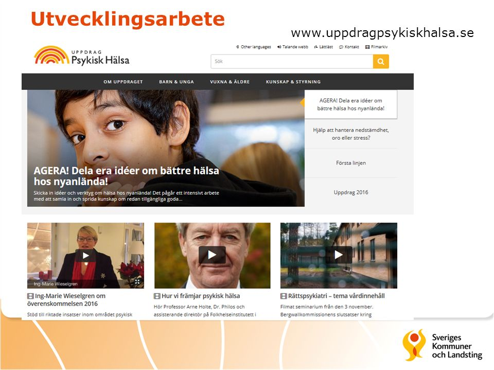 Utvecklingsarbete www.uppdragpsykiskhalsa.se