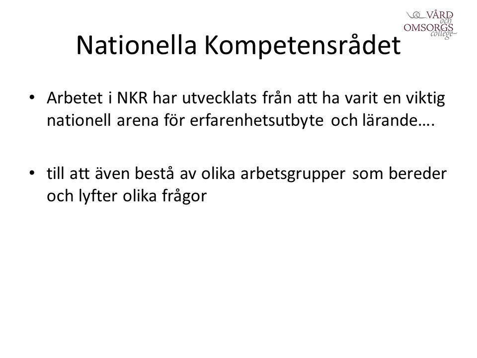Nationella Kompetensrådet Arbetet i NKR har utvecklats från att ha varit en viktig nationell arena för erfarenhetsutbyte och lärande….
