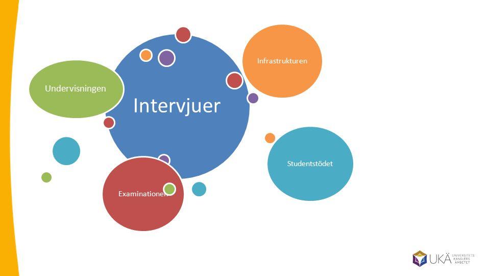 Intervjuer Undervisningen Infrastrukturen Studentstödet Examinationen