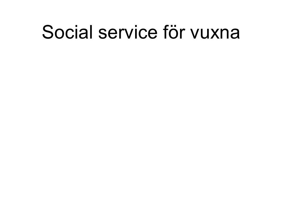 Social service för vuxna