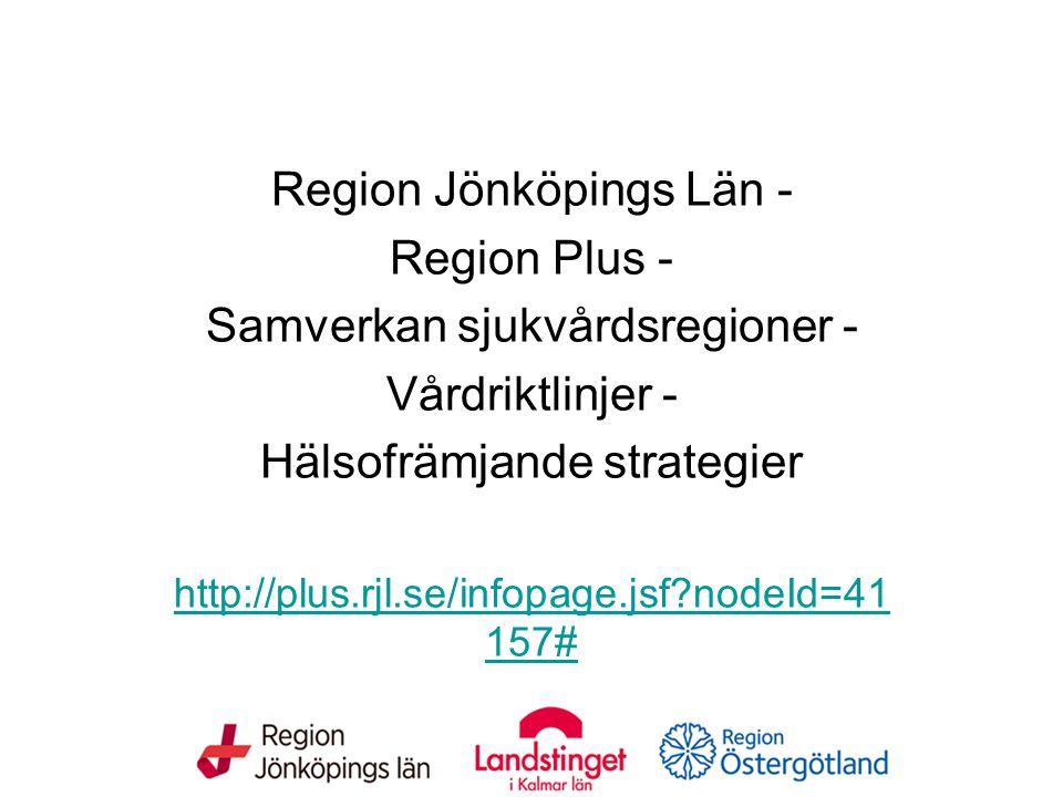Fetma bland barn, ungdomar och vuxna Region Jönköpings Län - Region Plus - Samverkan sjukvårdsregioner - Vårdriktlinjer - Hälsofrämjande strategier ht