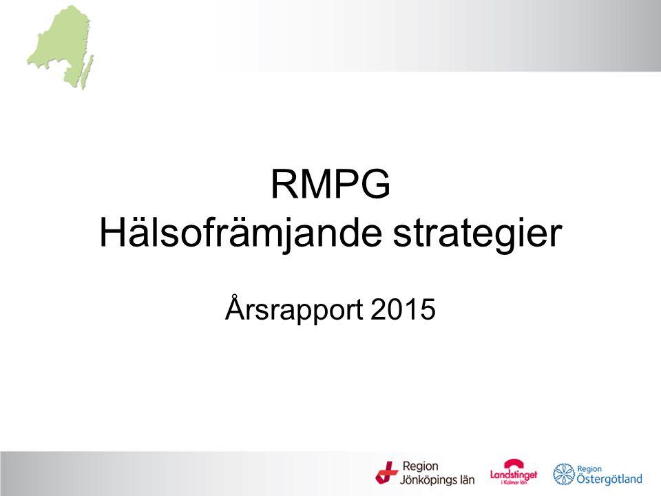 RMPG Hälsofrämjande strategier Årsrapport 2015