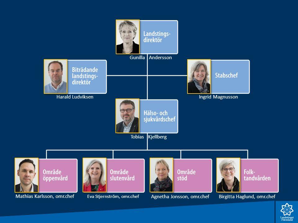 Områdeschefernas Områdeschefernas roll