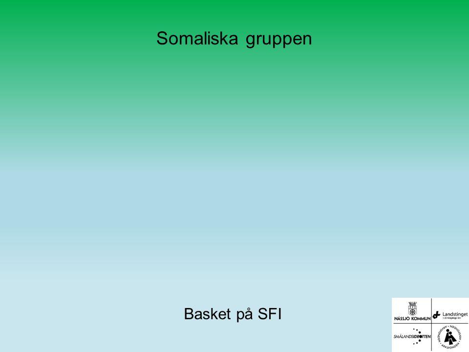 Somaliska gruppen Basket på SFI