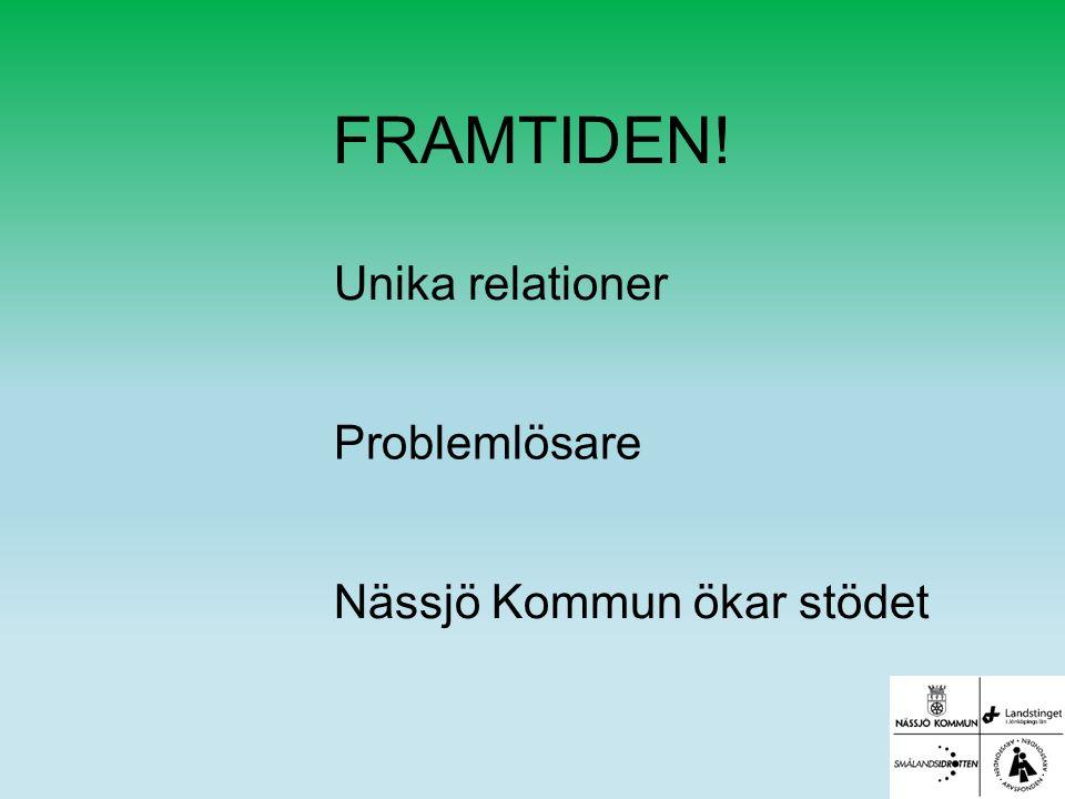 FRAMTIDEN! Unika relationer Problemlösare Nässjö Kommun ökar stödet