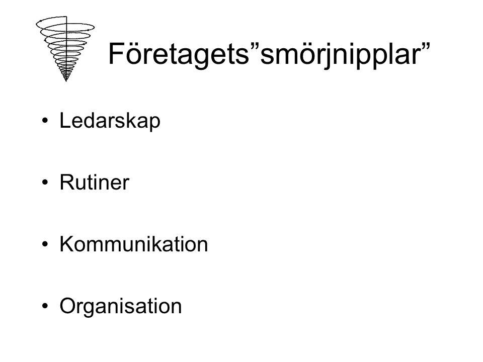 Företagets smörjnipplar Ledarskap Rutiner Kommunikation Organisation