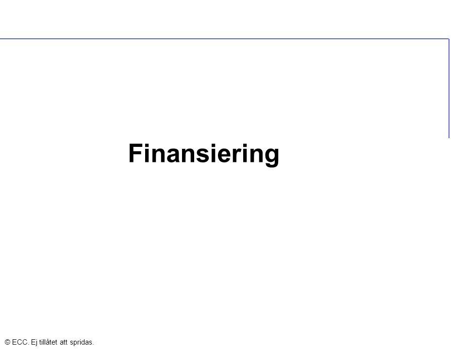 Finansiering © ECC. Ej tillåtet att spridas.