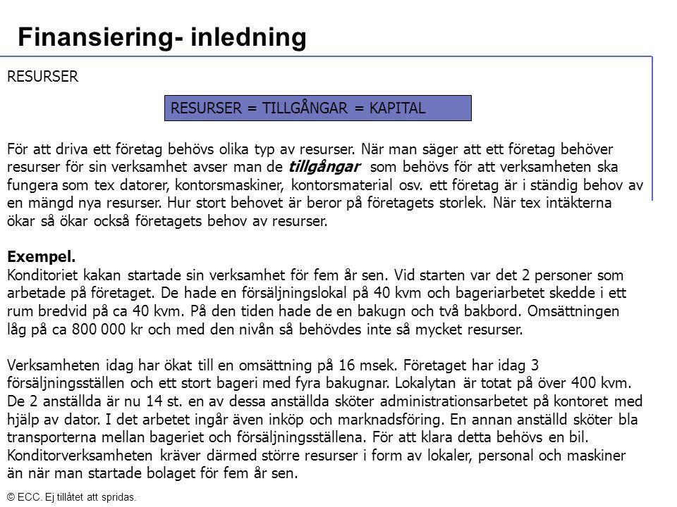 Finansiering- inledning VAD ÄR KAPITAL.