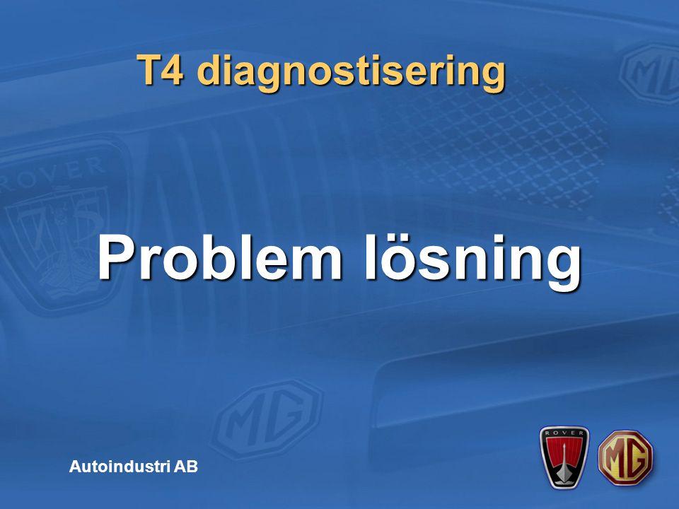 T4 diagnostisering Autoindustri AB Problem lösning