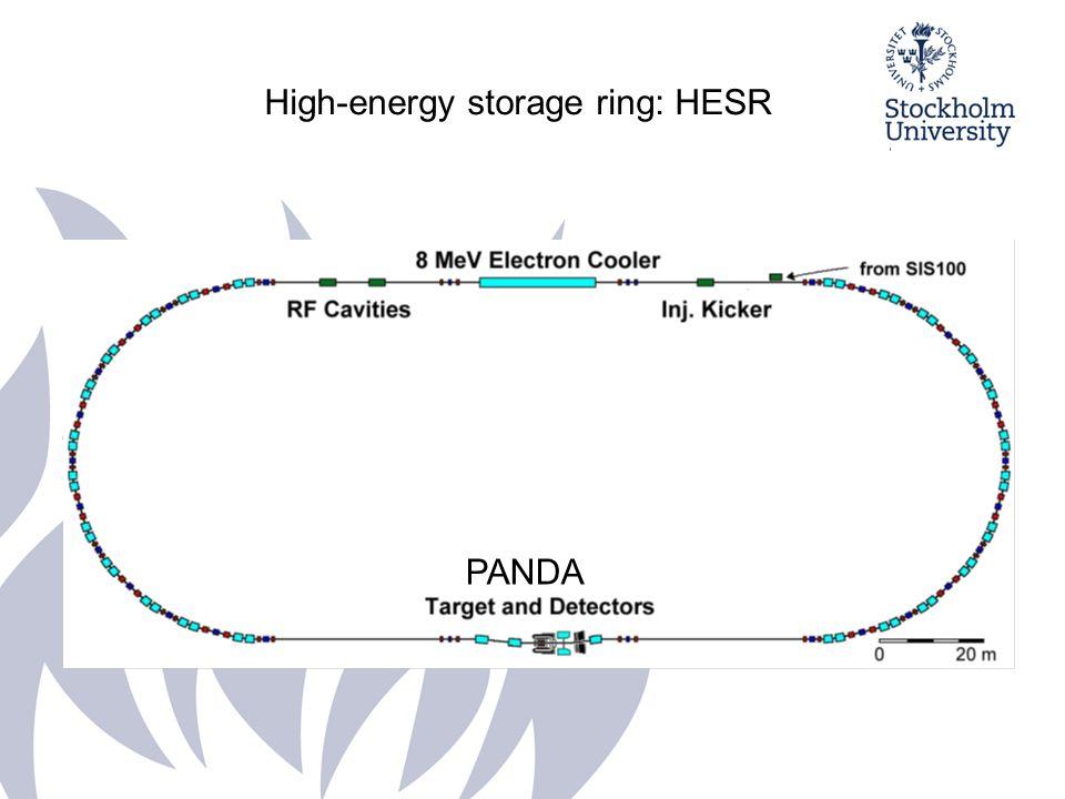 PANDA-kollaborationen: 450 forskare, 17 länder Monteras 2014-15 Stockholms universitet (med Uppsala, Lund): elektromagnetiska kalorimetern Scintillatormaterial PWO (PbWO 4 ) Respons för fotoner (<100 MeV) Energiupplösning 1 m