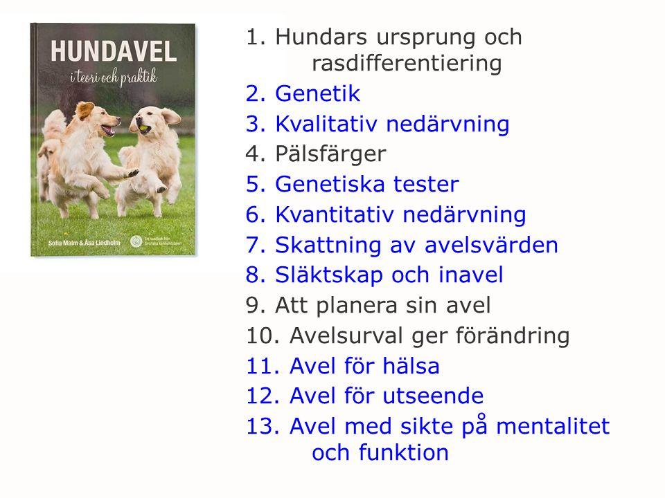1. Hundars ursprung och rasdifferentiering 2. Genetik 3.