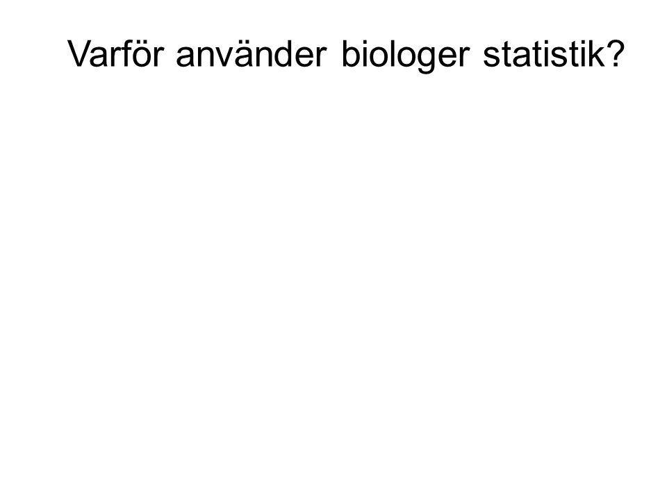 Varför använder biologer statistik?