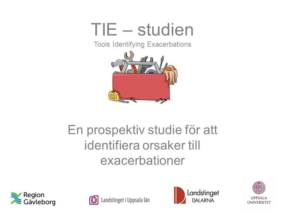 TIE – studien Tools Identifying Exacerbations En prospektiv studie för att identifiera orsaker till exacerbationer
