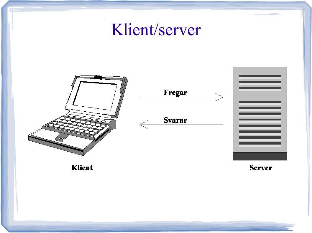 Protokollstacken Socket = ip-adress + port + transportprotokoll Undvik 0-1023 för egna protokoll, samt vanliga (1234, 1337 osv.)