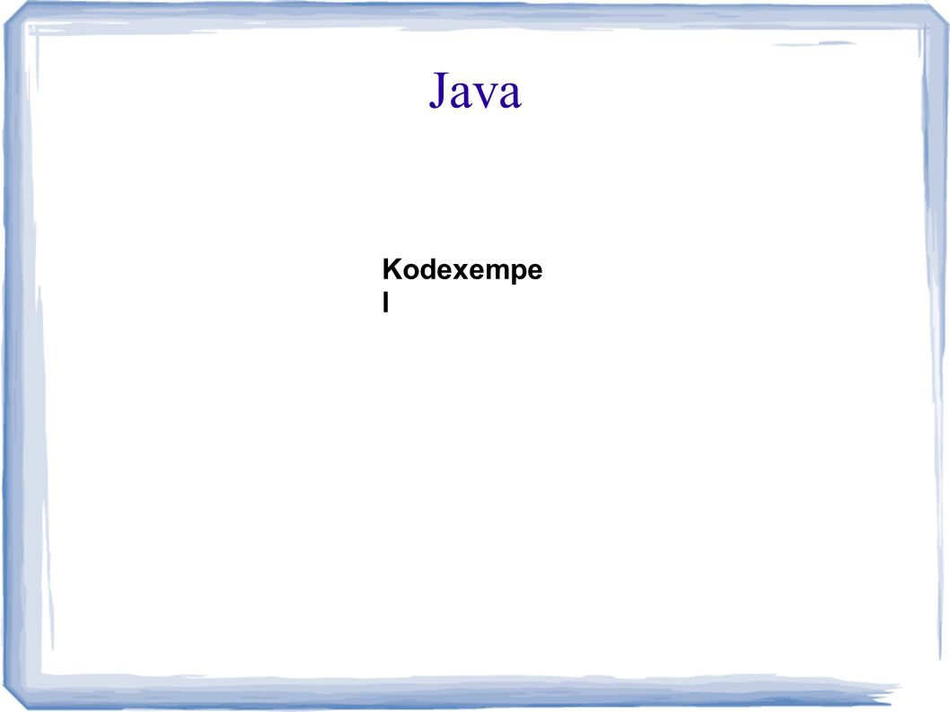 Java Kodexempe l