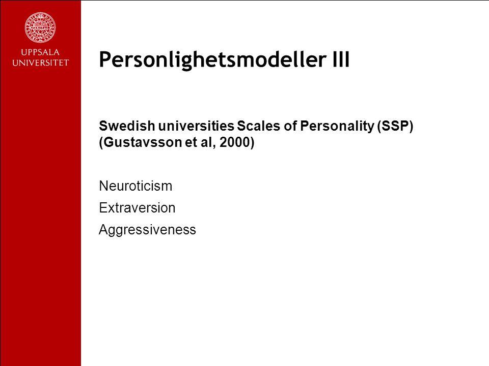Kluster B Färgstarka, dramatiska och impulsiva drag Antisocial Borderline Histrionisk Narcissistisk