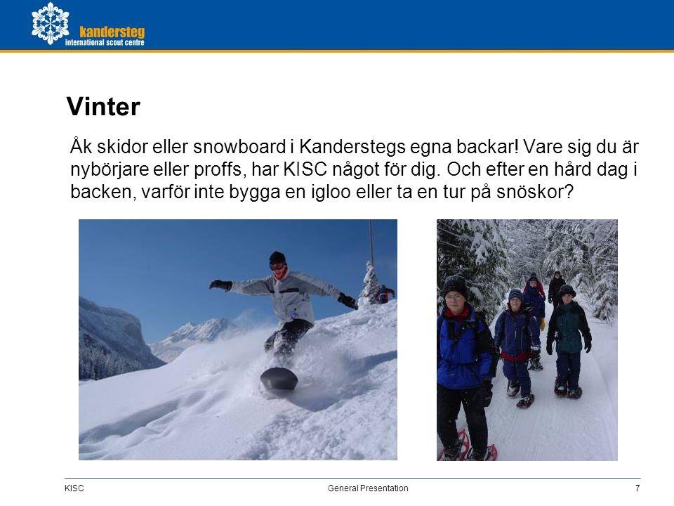 KISC General Presentation18 Samhället Kandersteg KISC ligger intill byn Kandersteg, vid Kander-åns kant.