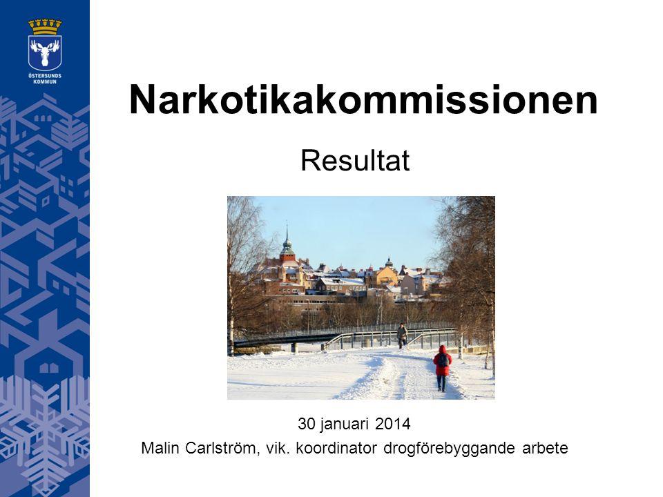 Narkotikakommissionen Resultat 30 januari 2014 Malin Carlström, vik.
