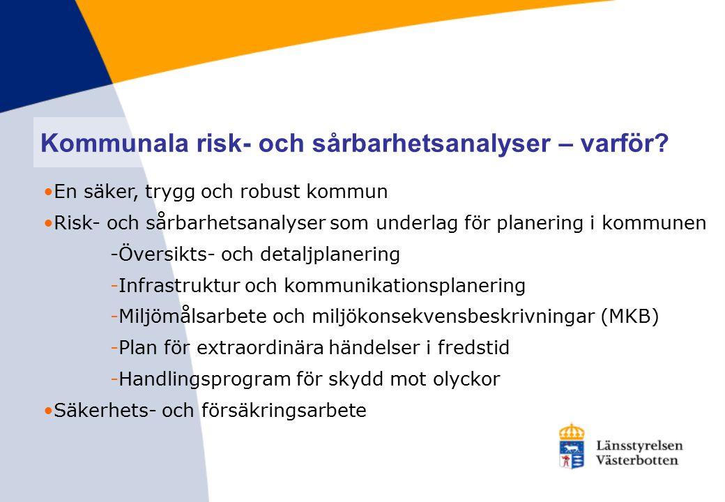 Kommunala risk- och sårbarhetsanalyser – varför.