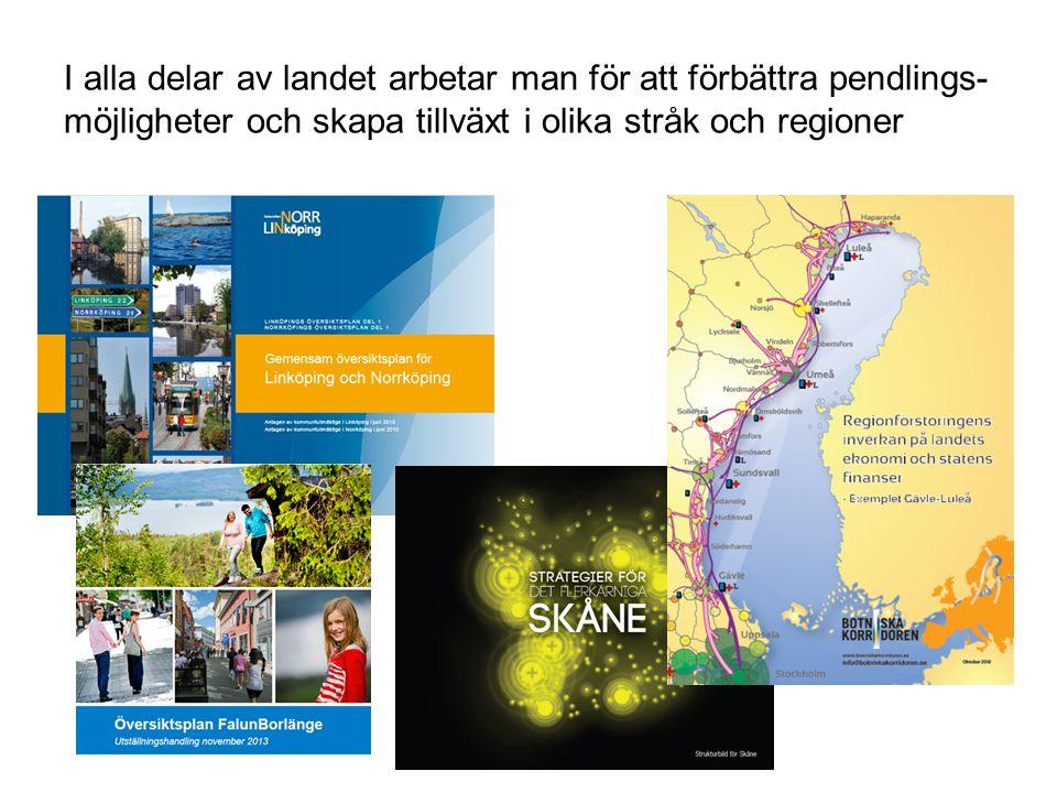 Scenario 2030 Avstånden har krympt dramatiskt med rimliga satsningar på infrastruktur och trafikering Åre-Östersund -- 20 minuter snabbare Östersund-Stockholm -- 60 min Trondheim-Åre -- 25 minuter Restider kollektivtrafik Källa: Rapport Botniska korridoren