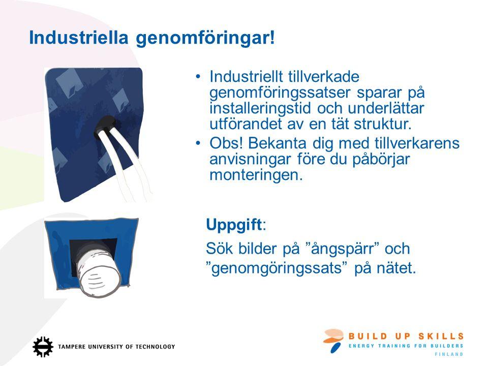 Industriella genomföringar.