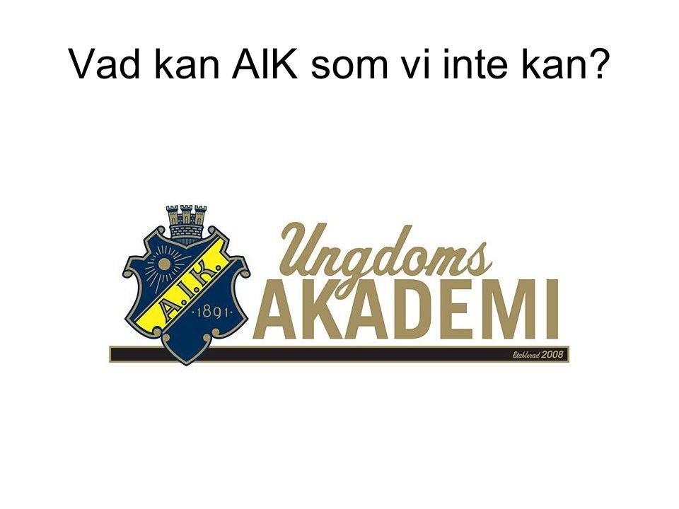 Lagträning AIK/Danderyds SK P99, TU Grupp STYRKA, TRADITION OCH FRAMGÅNG För Danderyds SK P99 i samarbete med AIK Fotboll INNEHÅLL SPELARE SPELSTIL SPELA OCH TRÄNA I AIK ORGANISATION