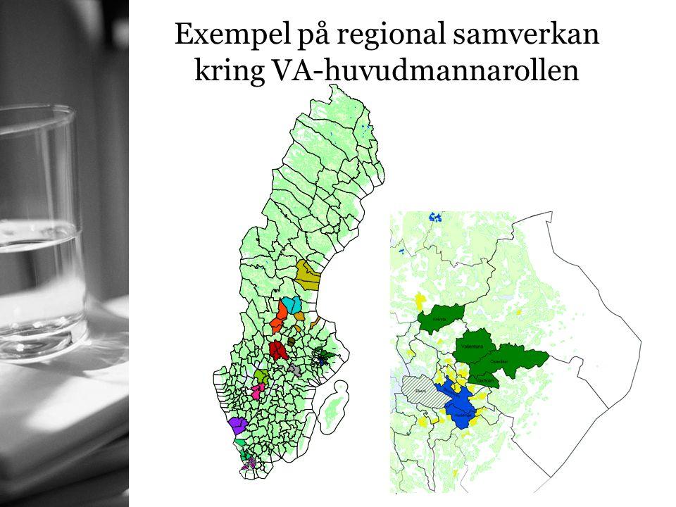 Exempel på regional samverkan kring VA-huvudmannarollen