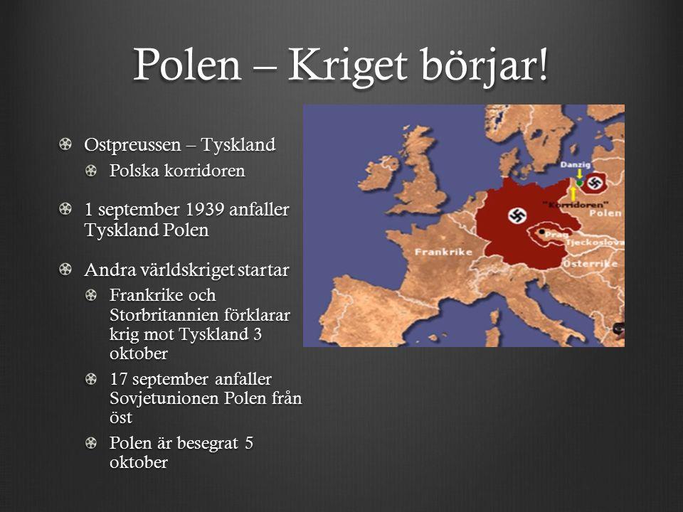 Polen – Kriget börjar.
