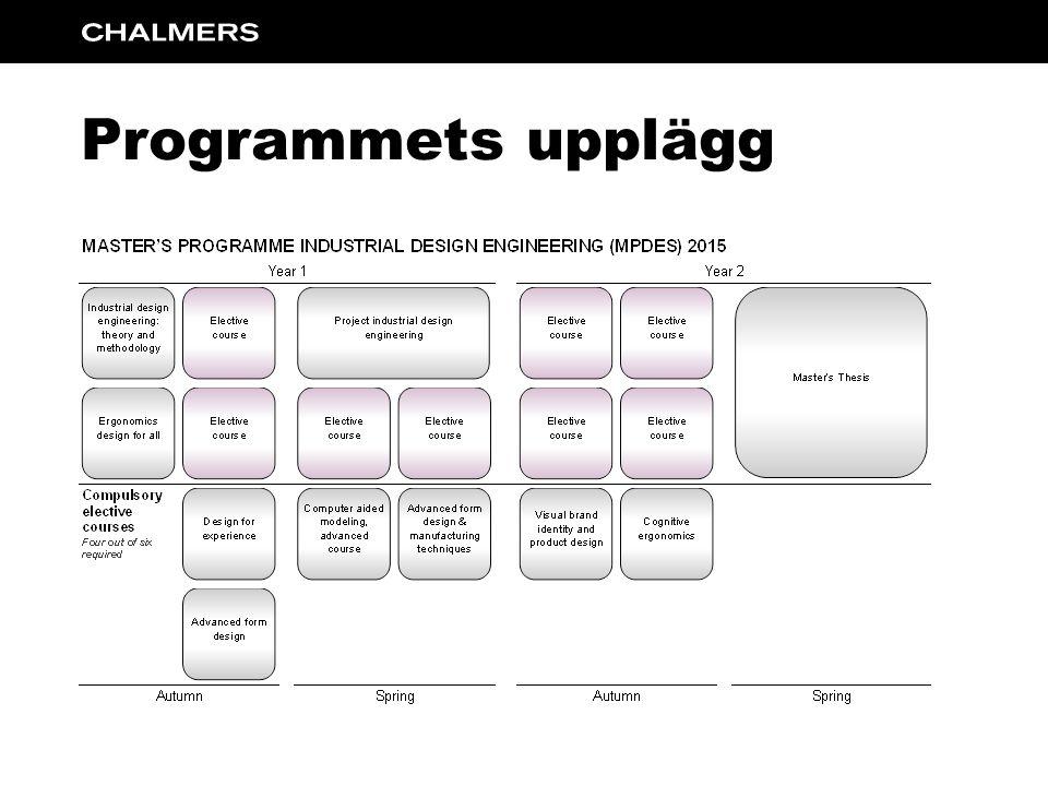 Programmets upplägg