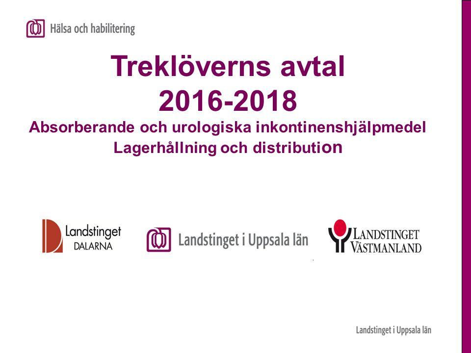 Treklöverns avtal 2016-2018 Absorberande och urologiska inkontinenshjälpmedel Lagerhållning och distributi on