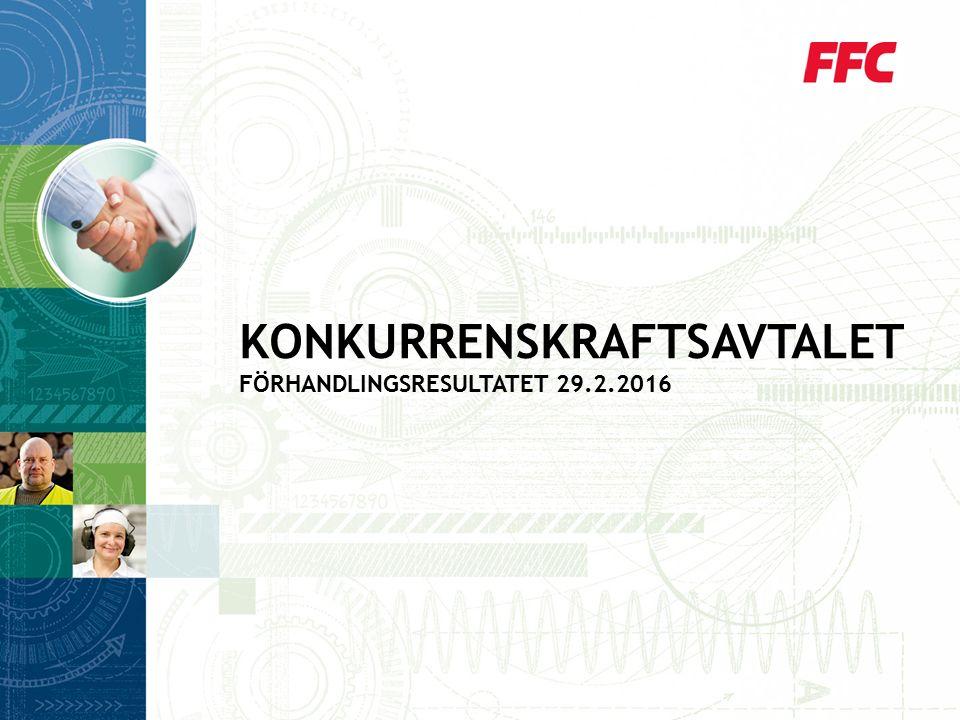 KONKURRENSKRAFTSAVTALET FÖRHANDLINGSRESULTATET 29.2.2016