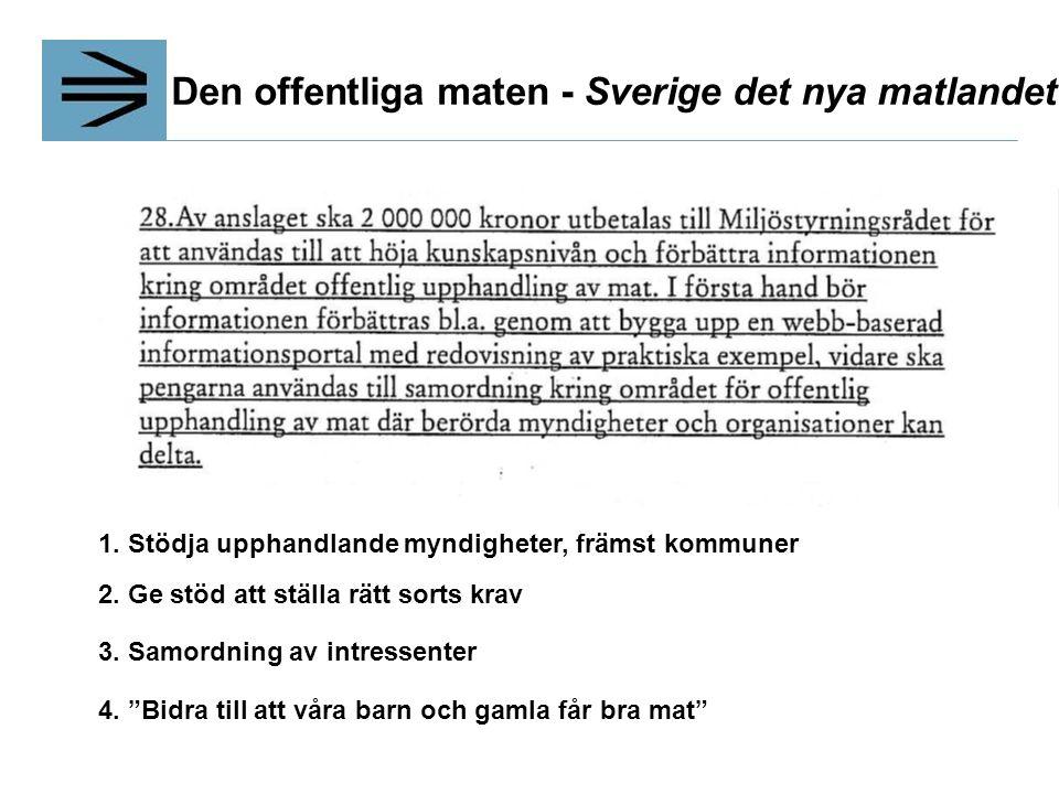 Den offentliga maten - Sverige det nya matlandet 1.