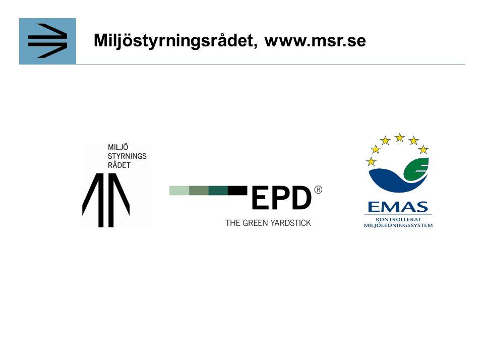 Miljöstyrningsrådet, www.msr.se