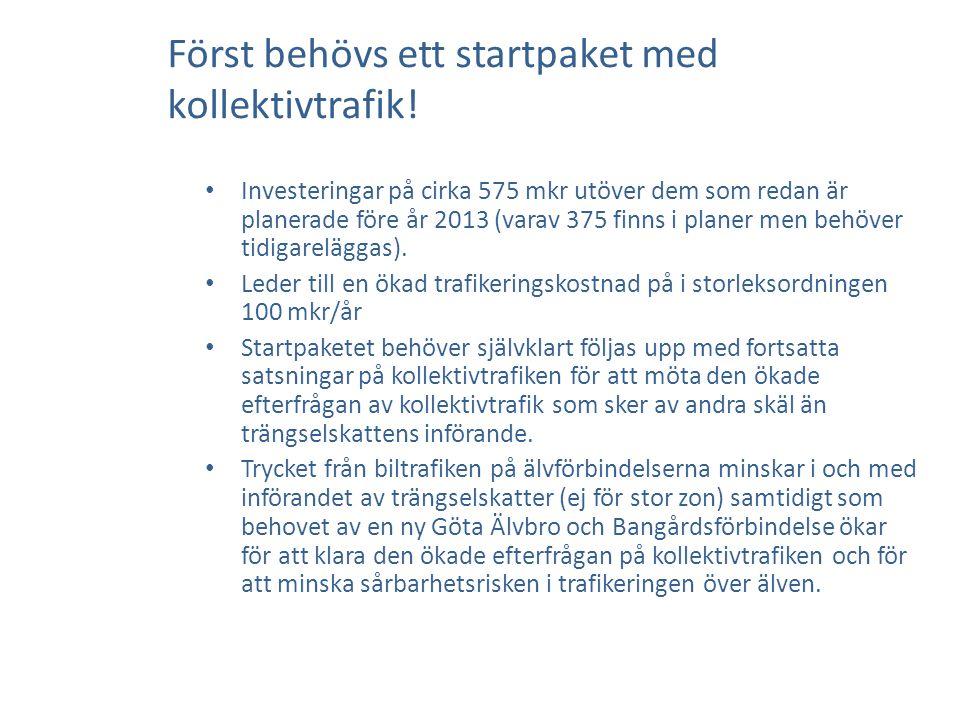 Först behövs ett startpaket med kollektivtrafik.