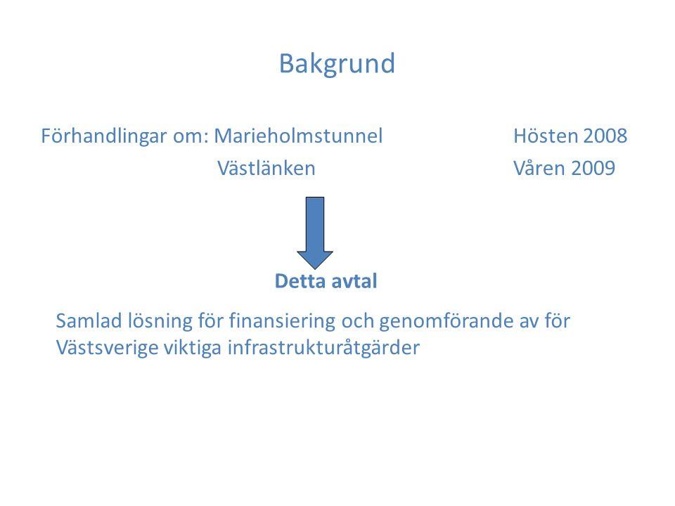 Syfte och omfattning 1.Gemensamt ansvar för finansiering och genomförande 2.Omfattning – K2020 med del av Göta Älvbron, Marieholmstunnel samt Västlänken (bilaga 1) 3.Beslutsunderlag till kommande nationella och regionala planer