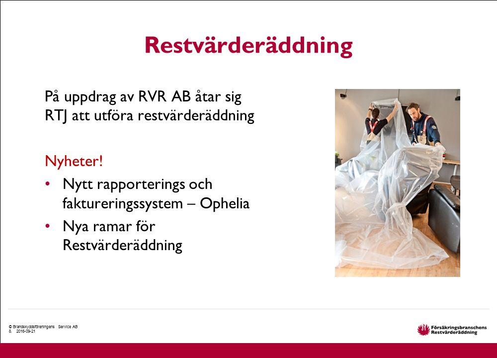 Restvärderäddning På uppdrag av RVR AB åtar sig RTJ att utföra restvärderäddning Nyheter! Nytt rapporterings och faktureringssystem – Ophelia Nya rama
