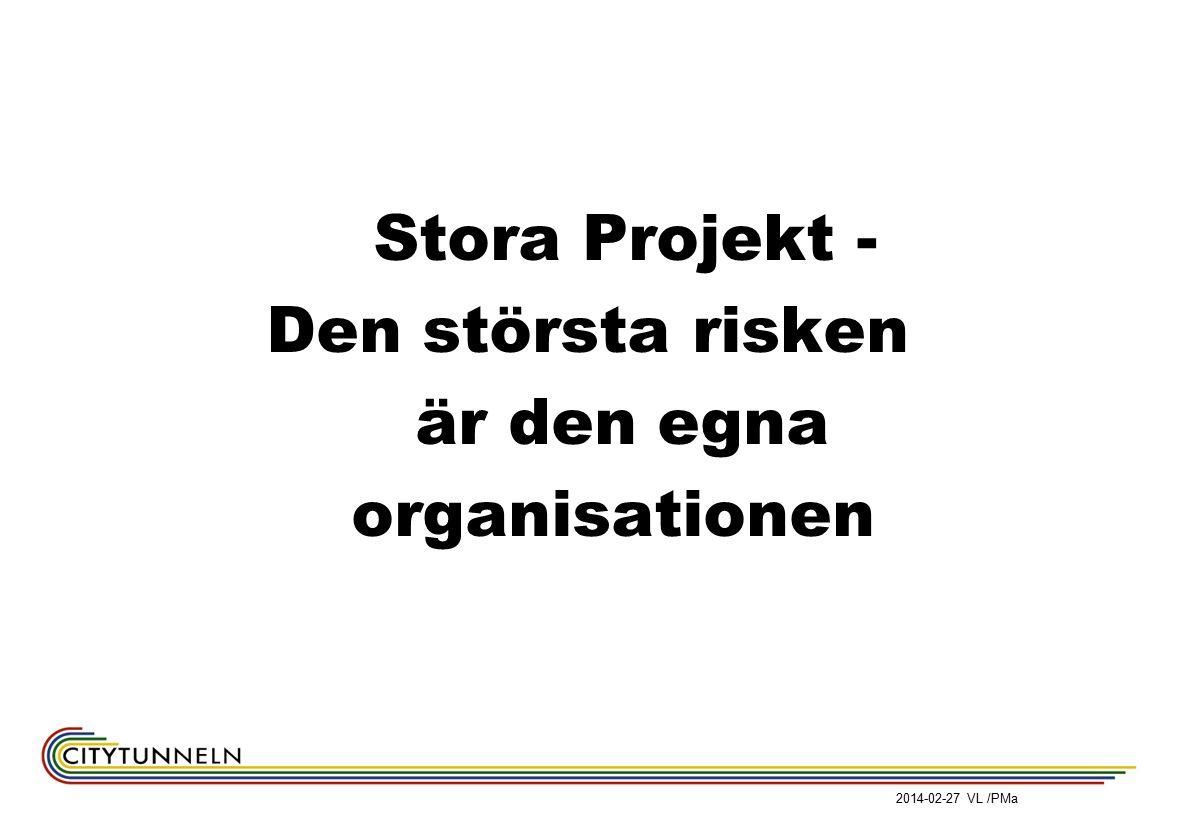 2014-02-27 VL /PMa Stora Projekt - Den största risken är den egna organisationen