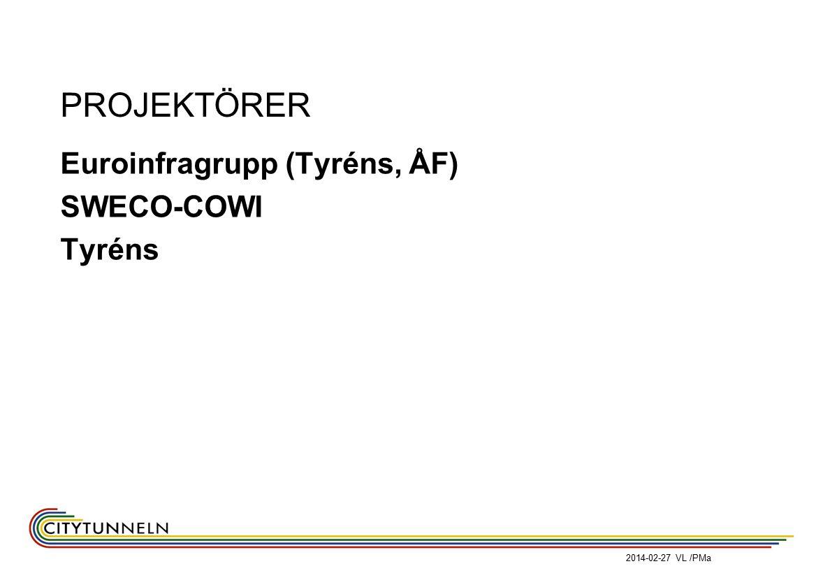 2014-02-27 VL /PMa PROJEKTÖRER Euroinfragrupp (Tyréns, ÅF) SWECO-COWI Tyréns