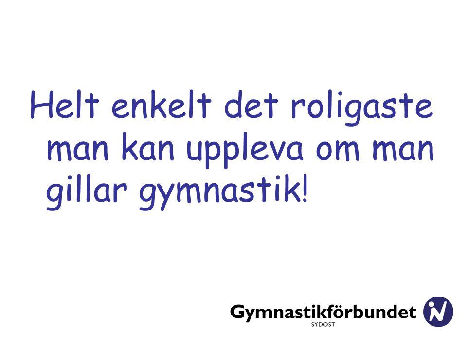 Helt enkelt det roligaste man kan uppleva om man gillar gymnastik!