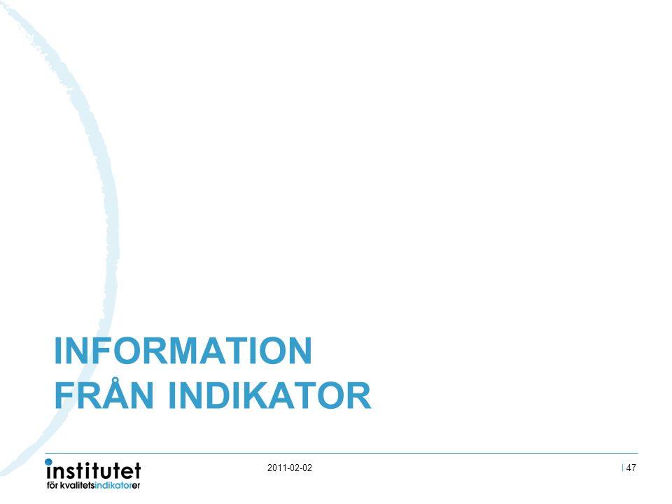 INFORMATION FRÅN INDIKATOR 2011-02-02I 47