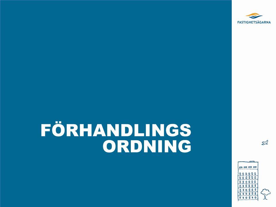 FÖRHANDLINGS ORDNING