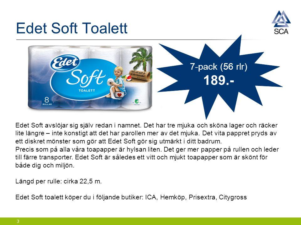 Edet Soft Toalett 3 Edet Soft avslöjar sig själv redan i namnet.
