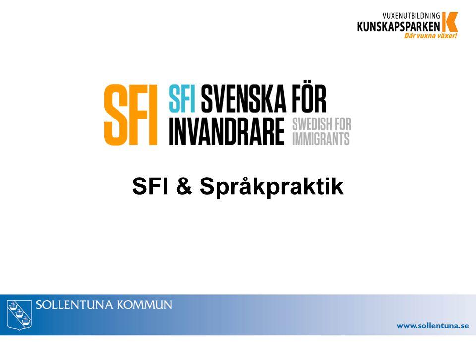 SFI & Språkpraktik