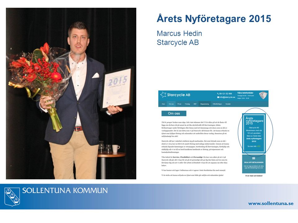 Årets Nyföretagare 2015 Marcus Hedin Starcycle AB