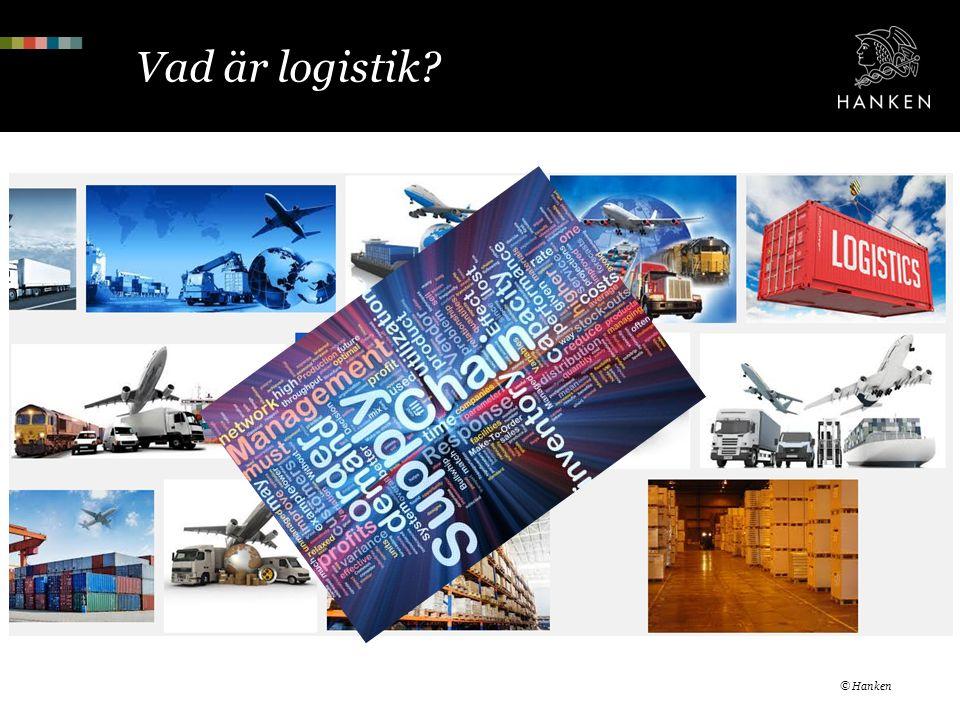 Vad är logistik © Hanken