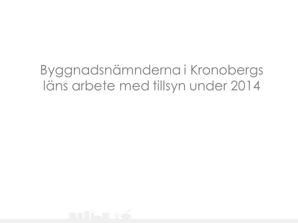 Byggnadsnämnderna i Kronobergs läns arbete med tillsyn under 2014